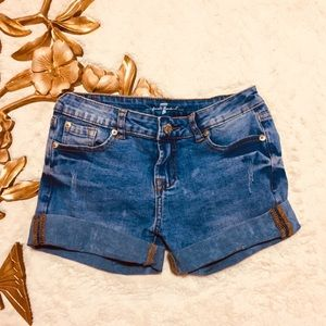 7 for all Mankind Denim Jean Shorts Size 12